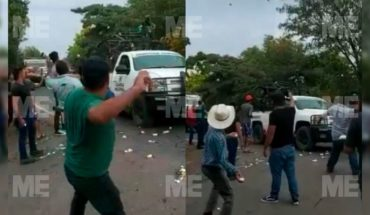 "Villagers welcome ""huevazos"" to National Guard in Cenobio Moreno, Apatzingán (Video)"