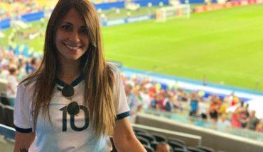 Antonela Rocuzzo sorprendió con su visita al estadio de Newell's