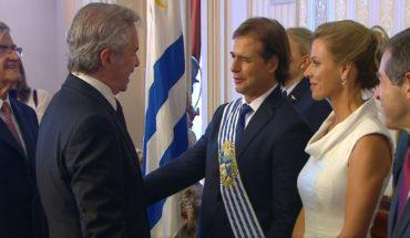 Asunción de Lacalle Pou: desde Uruguay, Solá encabezó la comitiva nacional