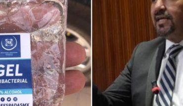 Critican a diputado del PAN por hacer campaña con gel antibacterial