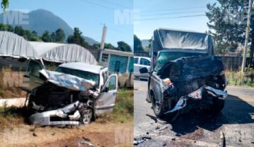Dos camionetas impactan de frente en la carretera Zitácuaro-Morelia