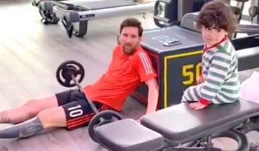 Lionel Messi entrenó en cuarentena con la compañía y travesuras de Ciro