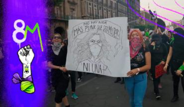 Madres, víctimas, estudiantes e indígenas juntas en la marcha del #8M