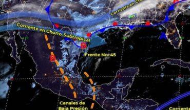 Pronóstico del clima de hoy: Frente frío 45 se disipará de México