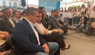 Raúl Morón acudió a la instalación del Consejo Michoacano para la Paz y la Reconciliación