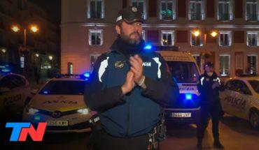 Coronavirus | TN en España: emotivo aplauso a los médicos y al servicio sanitario en Madrid