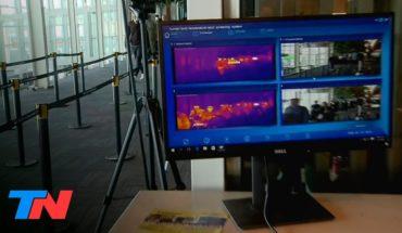 Coronavirus en la Argentina | En Ezeiza controlan con cámaras térmicas a los pasajeros y turistas