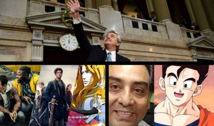 Alberto Fernandez to send legal abortion project; Netflix premieres in March; Dragon Ball's voice actor died and more...