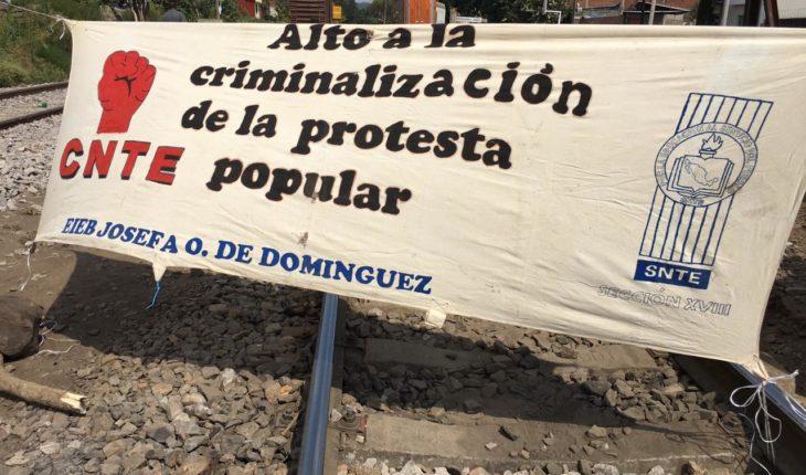 Blockades return to train tracks in Pátzcuaro and Caltzontzin, Michoacán