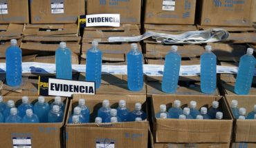 ISP seized more than 3,000 litres of illegal gel alcohol in Santiago