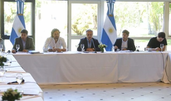 Kicillof spoke after meeting about coronavirus in Olives