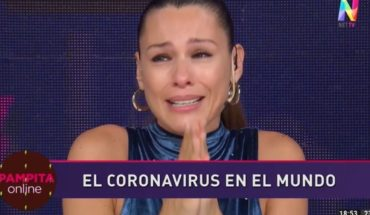 Pampita was distressed and frightened by the coronavirus