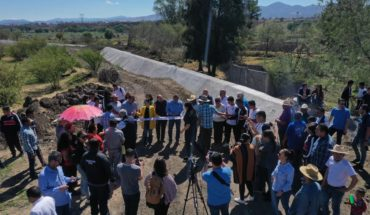 Raúl Morón handed over the rehabilitation of sanitism collector of San Lorenzo Itzícuaro