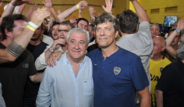 The happiness of Ameal and Pergolini after the consecration of Boca in the SuperLeague