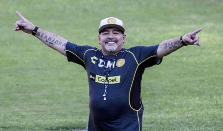 The united family: Diego Maradona and Claudia Villafañe together in a photo