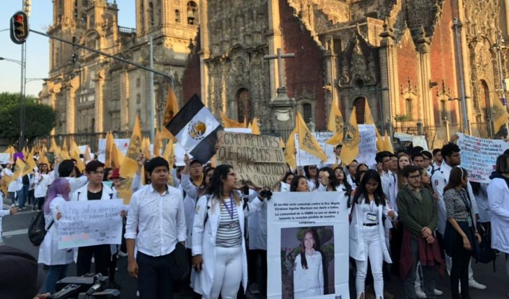 UNAM, IPN and BUAP students demand justice from AMLO for murder of peers
