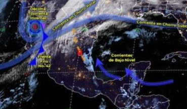 Weather 3 March: Forecast strong winds and rains in Mexico