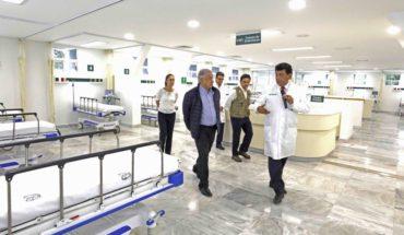 A marchas forzadas, IMSS habilita hospital para casos graves de COVID-19
