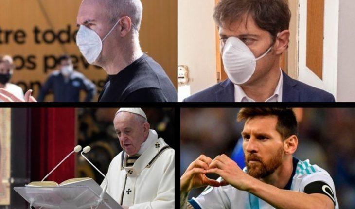 """Analizan el uso obligatorio del tapabocas, el Papa Francisco sugirió un """"salario universal"""", Messi le dedicó un mensaje a los médicos y mucho más..."""