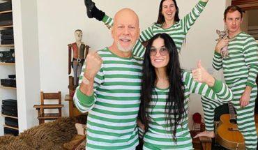 En familia: Demi Moore y Bruce Willis disfrutan la cuarentena con sus hijas