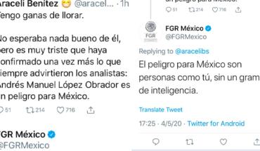 """FGR contesta a usuaria por criticar a AMLO """"El peligro para México son personas como tú"""""""
