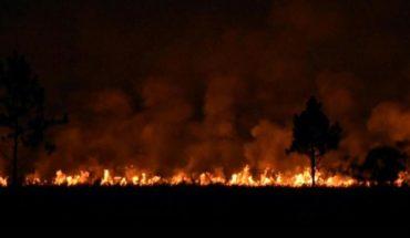 Feroz incendio en Posadas: el humo cubrió la ciudad