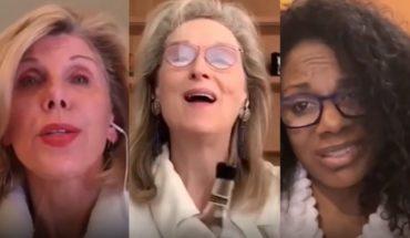 La videollamada de Meryl Streep, de fiesta con Christine Baranski y Audra McDonald
