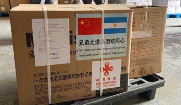 Llegaron al país los insumos sanitarios tras el acuerdo con China