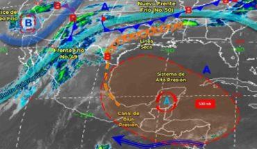 Pronóstico del clima de hoy: Frente frío 49 se debilitará sobre el norte de México