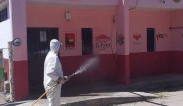 Se están sanitizando todas las sindicaturas de El Fuerte