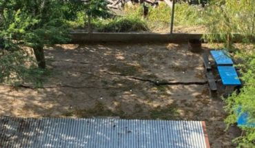 Una misteriosa grieta rompió el suelo de un club rosarino