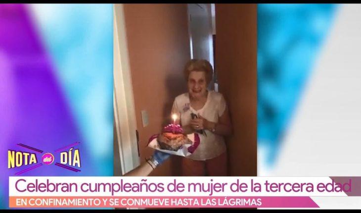 Abuelita llora por su festejo de cumpleaños | Vivalavi
