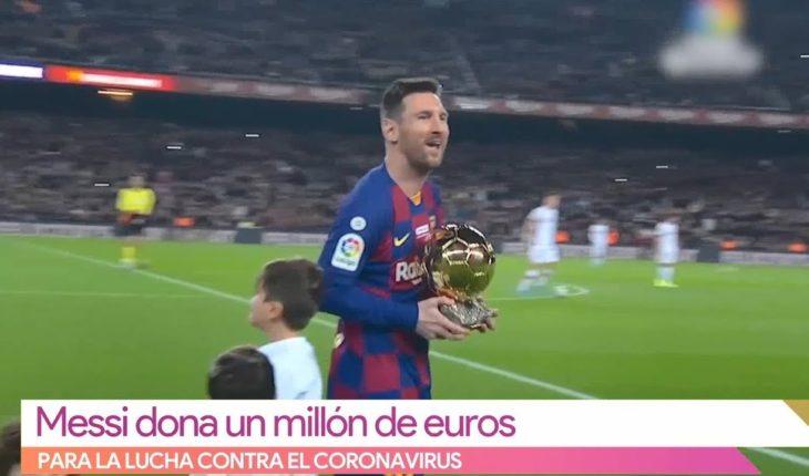 Messi dona 1 millón de euros | Vivalavi