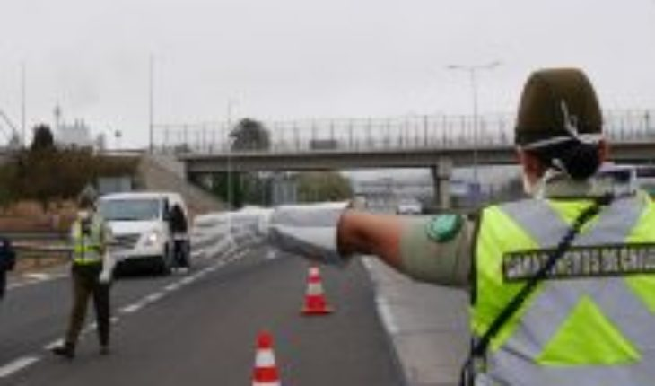 528 vehicles are intercepted while travelling to quarantine in second homes in the Valparaiso region