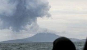 Indonesian volcano Anak Krakatoa expels clouds of ash, smoke and magma