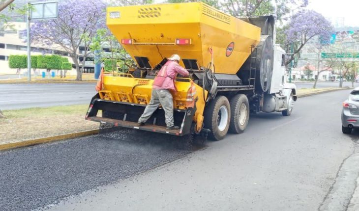 Morelia City Council reports that work is about to be completed at Lateral Camelinas
