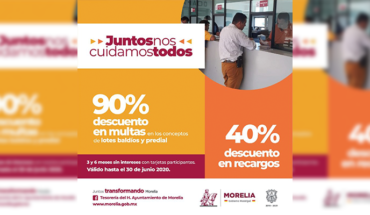 "Morelia Municipal Treasury announces campaign ""Together we all take care of each other"""