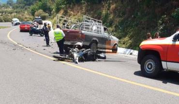 Shock takes the life of a motorcyclist in Zitácuaro, Michoacán
