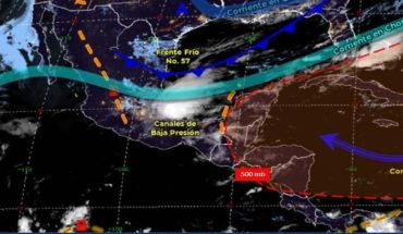 Today's Weather Forecast: Cold Front 57 to Spread through Mexico
