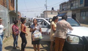 Ayuntamiento de Morelia continúa entregando paquetes alimentarios a familias morelianas