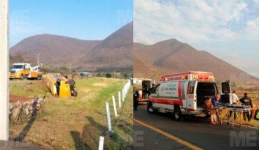 Campesinos quedaron lesionados por accidente de camión jornalero, en Tangamandapio