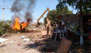 Desalojan invasión de terreno a un costado de dren Juárez