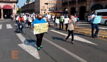 Por segunda ocasión, en medio de pandemia Covid-19, protesta sindicato de trabajadores de la UMSNH