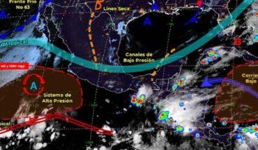 Pronóstico del clima de hoy: Se esperan lluvias puntuales intensas en México