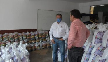 Raúl Morón supervisó entrega de apoyos alimentarios a morelianos
