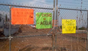 Vecinos de Lomas de la Maestranza se oponen a construcción de viviendas por problemas con el agua