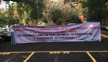 Vecinos de Tlalpan acusan a Grupo Salinas de ponerlos en peligro