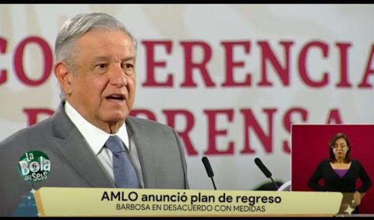 AMLO anuncia plan de regreso | La Bola del 6