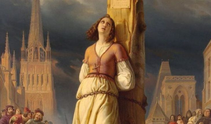 A day like today, Joan of Arc, was burned alive at the stake