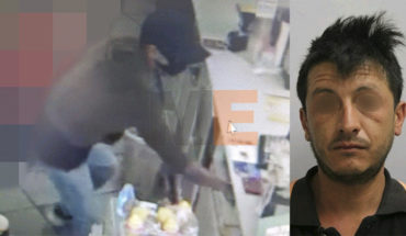 Arrested shoplifter and passers-by in Morelia and Pátzcuaro